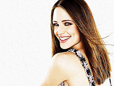 Jessica Alba Wall Art - Painting - Jennifer Garner by Queso Espinosa