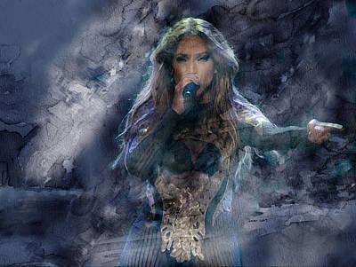 Pop Painting - Jennifer Lopez 476 by Jani Heinonen