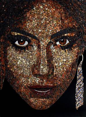 Mixed Media - Jennifer Lopez by Doug Powell