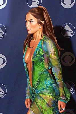 Jennifer Lopez Drawing Art Print
