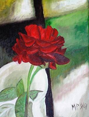 Jennifers Rose Art Print by Madeleine Prochazka