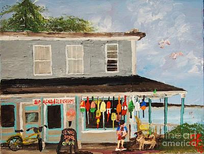 Painting - Jenn's Store by Francois Lamothe