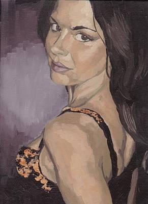 Jenny In Black Art Print
