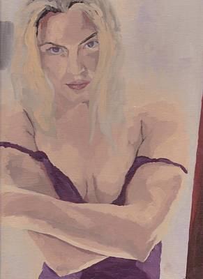 Jenny In Purple Art Print