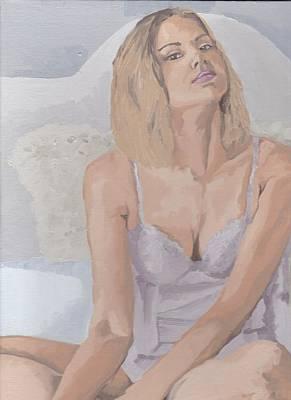 Jenny In White Art Print