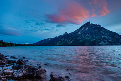 Photograph - Jenny Lake At Sunset by Adam Mateo Fierro