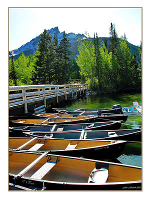 Photograph - Jenny Lake Boats by Joan  Minchak