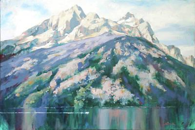 Painting - Jenny Lake by Carol Strickland