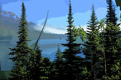 Mixed Media - Jenny Lake Crossing by Rick Thiemke