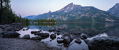 Photograph - Jenny Lake Dawn by Adam Pender