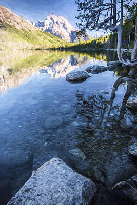 Mountain Digital Art - Jenny Lake In The Morning II by Jon Glaser