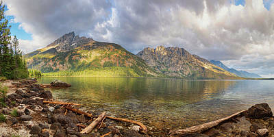 Photograph - Jenny Lake Panorama View by James BO Insogna