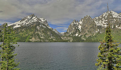 Photograph - Jenny Lake Spring Colors by Dan Sproul