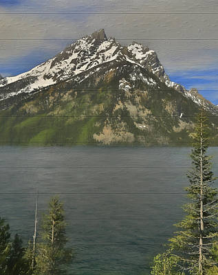 Teton Mixed Media - Jenny Lake Wood Panels by Dan Sproul