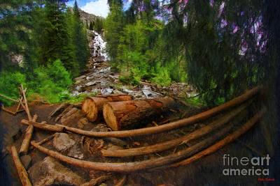 Photograph - Jenny Lake's Hidden Falls by Blake Richards