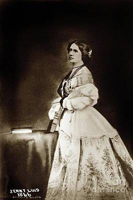 Photograph - Jenny Lind-goldschmidt  by California Views Mr Pat Hathaway Archives