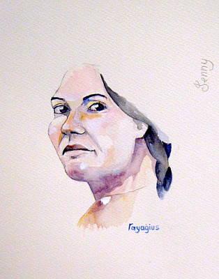 Painting - Jenny by Ray Agius
