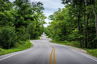 Photograph - Jens Jensen's Winding Road by Randy Scherkenbach