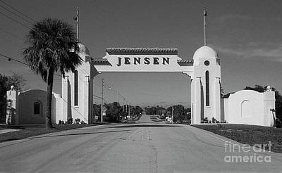 Photograph - Jensen 1926 Welcome Arch by Richard Nickson