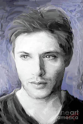 Supernatural Digital Art - Jensen Ackles by Dori Hartley