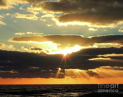 Painting - Jensen Beach Sunrise 1 by Bill Holkham