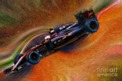 Photograph - Jenson Button 2015 Mclaren Honda by Blake Richards