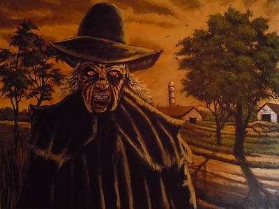 Painting - Jeppers Creepers Nightmare by James Guentner