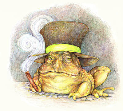 Drawing - Jeremiah Bullfrog by Peggy Wilson