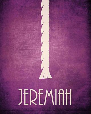 Jeremiah Icon Bible Minimal Art Art Print