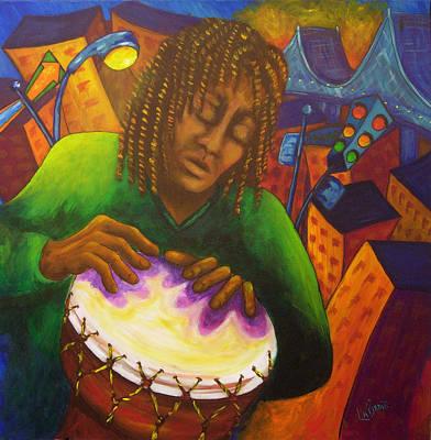 Painting - Jeremy - Tam Tam by Manon LaBadie