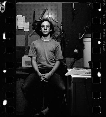 Photograph - Self Portrait, In Darkroom, 1972 by Jeremy Butler