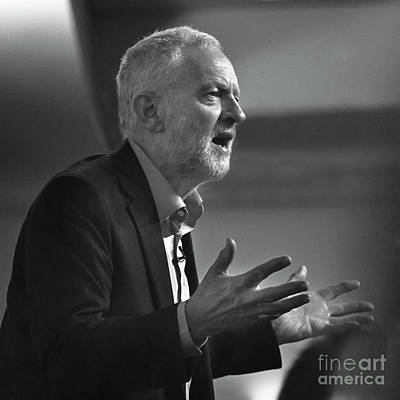 Photograph - Jeremy Corbyn by Linsey Williams