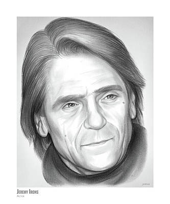 Drawing - Jeremy Irons by Greg Joens