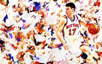 Jeremy Lin Print by Leon Jimenez