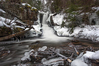 Photograph - Jericho Falls Winter Frost by Chris Whiton