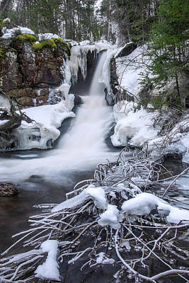 Photograph - Jericho Falls Winter Ice by Chris Whiton
