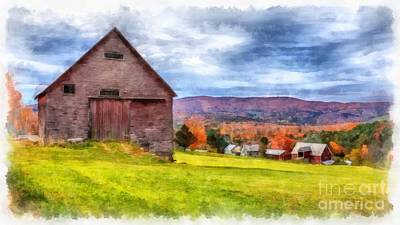 Painting - Jericho Hill Farm Vermont by Edward Fielding