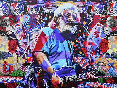 Jam Bands Painting - Jerome 14 by Kevin J Cooper Artwork