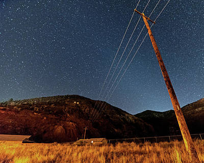 Photograph - Jerome Arizona Ghost Town Starry Skies Mining Town by Toby McGuire