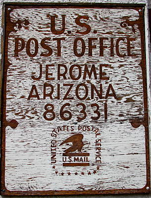 Photograph - Jerome Arizona Post Office by Denise Mazzocco