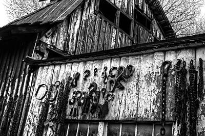 Photograph - Jerome Az Blacksmith Junkyard Rusty Tools by Toby McGuire