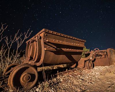 Photograph - Jerome Az Mine Cart Jerome Arizona Color by Toby McGuire