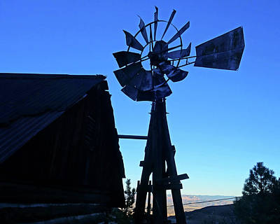 Photograph - Jerome Az Old Windmill Arizona by Toby McGuire