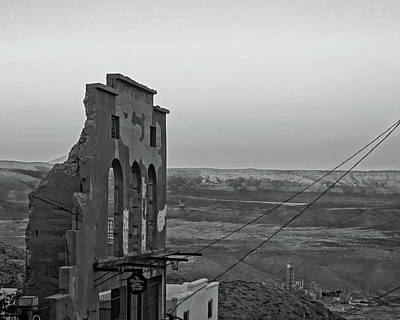 Photograph - Jerome Az Ruins Sunset Jerome Arizona Black And White by Toby McGuire
