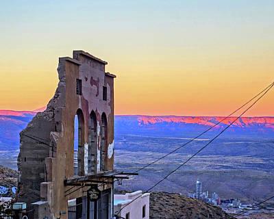 Photograph - Jerome Az Ruins Sunset Jerome Arizona by Toby McGuire