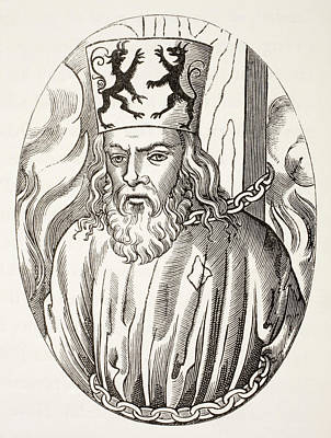 Prague Drawing - Jerome Of Prague, 1379 To 1416. Czech by Vintage Design Pics