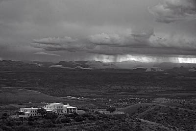 Art Print featuring the photograph Jerome State Park With Sedona Storm by Ron Chilston