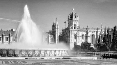 Fountain Photograph - Jeronimos Monastery by Jose Elias - Sofia Pereira