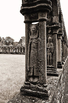 Photograph - Jerpoint Abbey Cloister Stone Figures by Menega Sabidussi