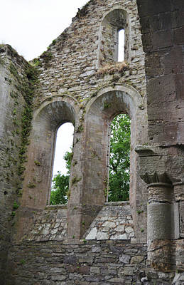 Photograph - Jerpoint Abbey Gothic And Romanesque Architectural Details County Kilkenny Ireland by Shawn O'Brien